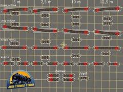 Zámková šablona 9° pro modelové kolejiště