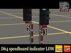 Indikátorové tabulky s číslicí 5 a 3 low