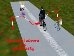 Závora pro cyklostezky