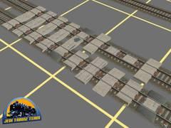 Betonové přechody přes koleje.