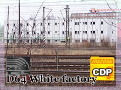 Bílá průmyslová budova