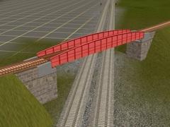 Červený ocelový most
