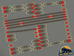 Modelové kolejiště - výhybky 5°