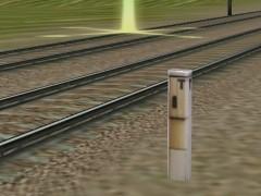 Moderní traťový telefon.