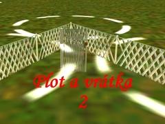 Venkovský plot s vrátky 2