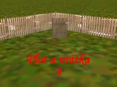 Venkovský plot s vrátky 4
