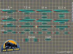 Zámková šablona 6° pro modelové kolejiště