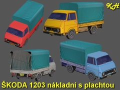 Škoda 1203 nákladní s plachtou
