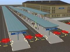 Sada skrytých peronů pro Velké nádraží