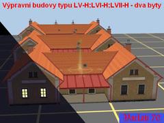 Výpravní budovy typu LV-H; LVI-H; LVII-H - dva služební byty