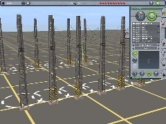 Sada pylonů pro elektrifikaci