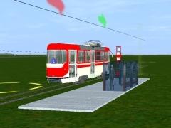 Tramvajová zastávka s budkou