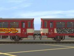 ČD Btax grafitti