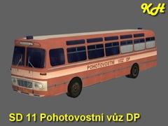 ŠD 11 pohotovostní vůz DP