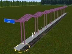 Zastřešené nástupiště 110 m.