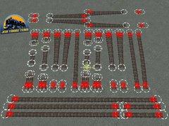 Modelové kolejiště - výhybky 6°