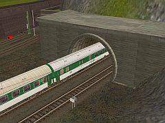 Tunel 2k (betonové tybinky) HP track