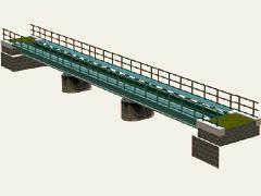 Nízký most rovný