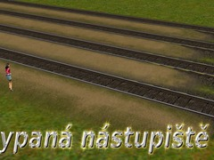 Sypaná nástupiště 2