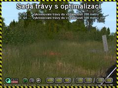 Sada trávy s optimalizací
