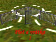 Venkovský plot s vrátky 1