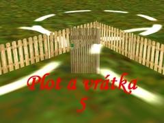 Venkovský plot s vrátky 5