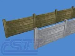 Průmyslové betonové zdi