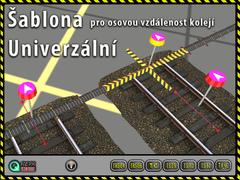 Šablona pro osovou vzdálenost kolejí - Univerzální