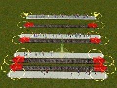 Skryté tramvajové zastávky 3x35 m