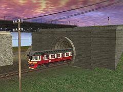 Tunel 1k (betonové tybinky) HP track