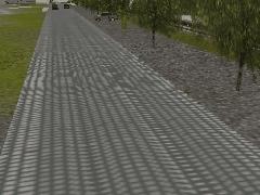 Dlážděná silnice