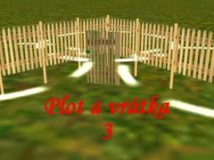 Venkovský plot s vrátky 3