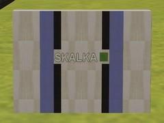 Zeď stanice Skalka