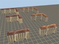 Sada domovních bloků