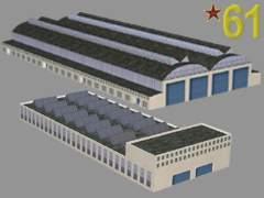 Továrna 61 - Výrobní haly