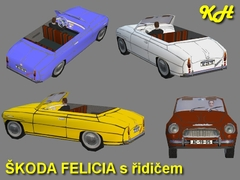 Škoda Felicia s řidičem pack