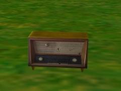 Staré rádio se zvukem