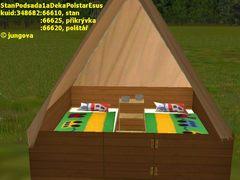 Stan s podsadou, polštář a deka