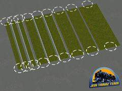 Tráva 2D spline