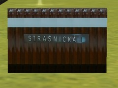 Zeď stanice Strašnická