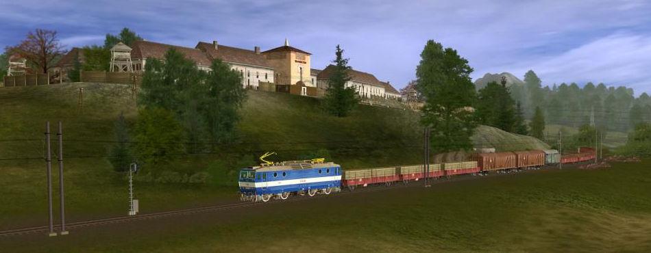 JTT železnice, kolem zrušených kasáren nedaleko Holoubkova